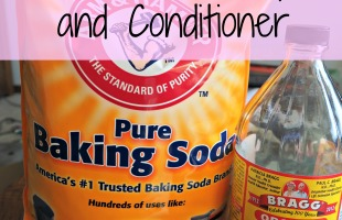 Homemade Shampoo and Conditioner - just two ingredients!