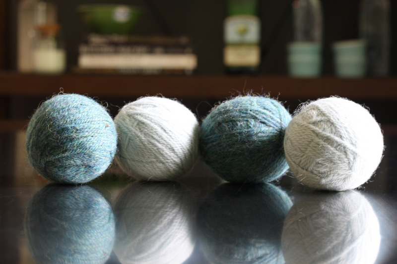 And you can make these dryer balls to further help with your laundry